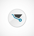 wheelbarrow icon 2 colored vector image