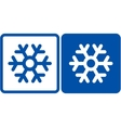 snowflake sign vector image