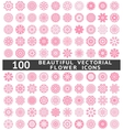 Beautiful abstract flower icons vector image