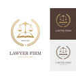 law label with balance scale open book and wreath vector image
