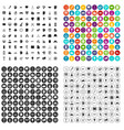 100 strategy icons set variant vector image vector image