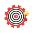 a target with an arrow vector image vector image
