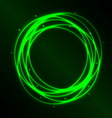 Abstract background with green plasma circle vector image