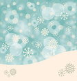 Abstract Winter Background with Snowflakes and vector image