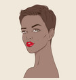african american woman with pixie haircut vector image vector image