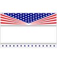 american symbols patriotic holiday frame vector image vector image
