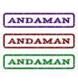 andaman watermark stamp vector image vector image