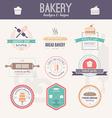 Bakery Logos vector image vector image