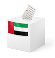 Ballot box with voting paper United Arab Emirates vector image vector image