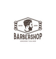 barber shop logo design inspiration vector image vector image