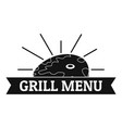 bbq grill menu logo simple style vector image vector image