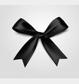 black bow realistic 3d style vector image vector image