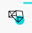 business mail message open turquoise highlight vector image