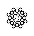 Cancer virus icon isolated contour symbol