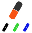 capsule flat icon vector image