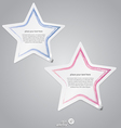 colorful label stars vector image