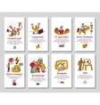 Creative business cards and banners vector image vector image