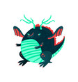 cute cartoon little dragon character mythical vector image