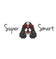english cocker spaniel in smart glasses geek vector image