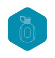 flask icon outline style vector image