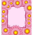 floral frame greeting card vector image vector image