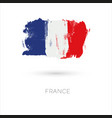 france colorful brush strokes painted national vector image vector image