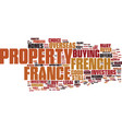 french homes why buy them text background word vector image vector image