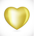 gold love heart logo vector image vector image
