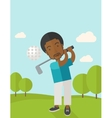 Golf player on field vector image vector image