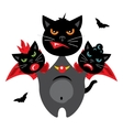 Halloween Three-headed Dragon cat Cartoon vector image vector image