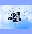 happy new year 2019 creative background vector image vector image