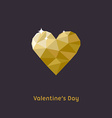 Happy Valentines Day Greeting Card Golden vector image