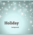 holiday blue decoration background with stars vector image vector image