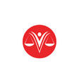 justice lawyer logo and symbols template icons app vector image vector image