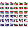 Karelia Tatarstan Iceland Kuwait Set of 36 flags vector image vector image