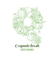 letter q pattern logo organic farm fresh fruits vector image vector image