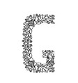 letters floral g vector image