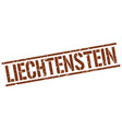 liechtenstein brown square stamp vector image vector image