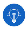 light bulb line icon isolated on blue background vector image