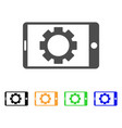 mobile settings gear icon vector image