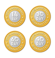 Money back guarantee label coins