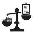 money bribery balance icon simple style vector image