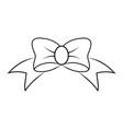 openwork ribbon bow tattoo decoration vector image