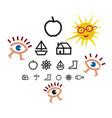optometry test for children vector image vector image