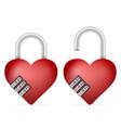 padlock heart vector image vector image