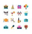 Party Color Icons Set vector image vector image
