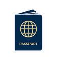 passport icon on white background vector image