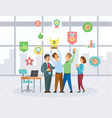 people collaboration and success winners vector image