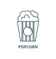 popcorn line icon linear concept outline vector image vector image
