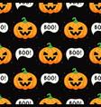 pumpkins for halloween seamless pattern on dark vector image